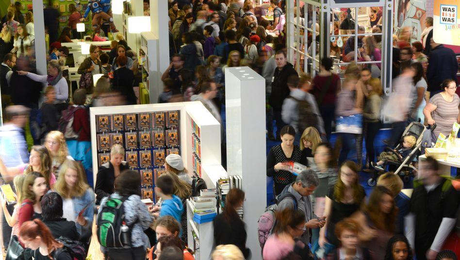 Besucher auf der Frankfurter Buchmesse (Archivbild): Dieses Jahr ohne Diogenes