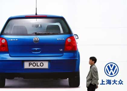 A VW Polo advertisement in Shanghai.