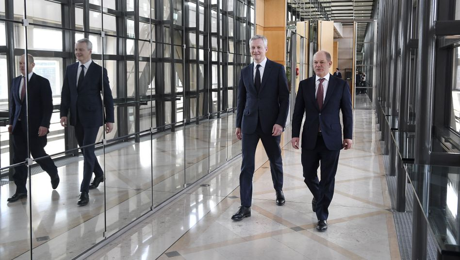 Bruno Le Maire (l.) und Olaf Scholz