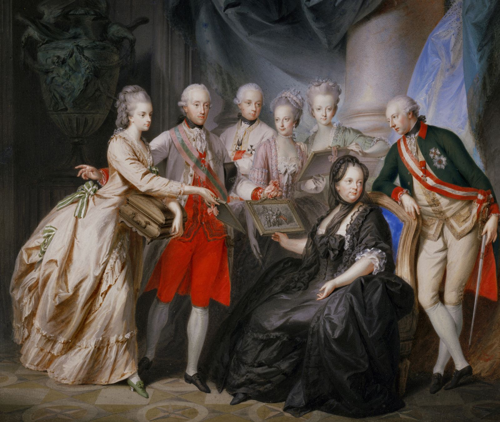 Empress Maria Theresia with her children