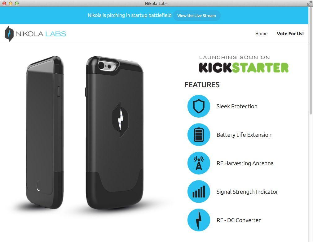 NUR ALS ZITAT Screenshot Handy-Ladehlle Nikola Labs