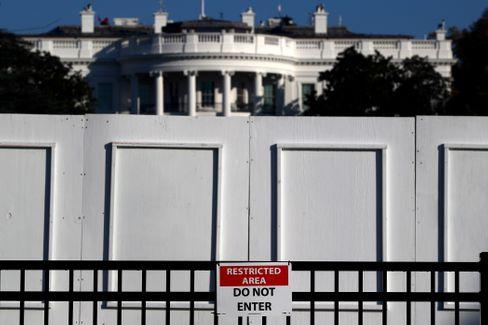 Eintritt verboten: Barrikaden am Weißen Haus