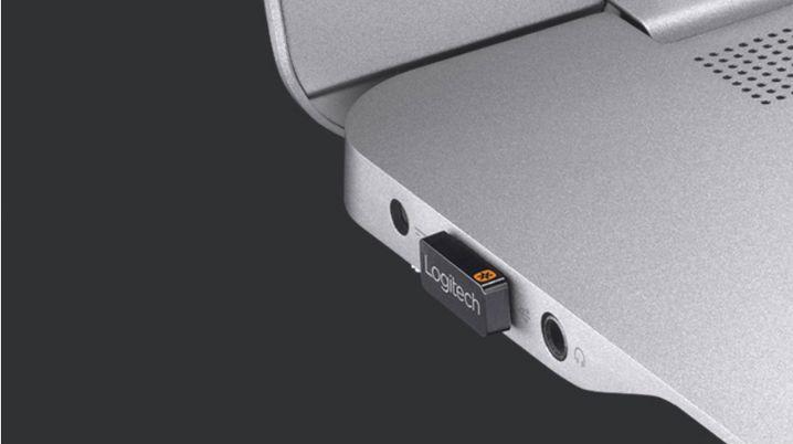 So sieht der USB-Empfänger von Logitech aus