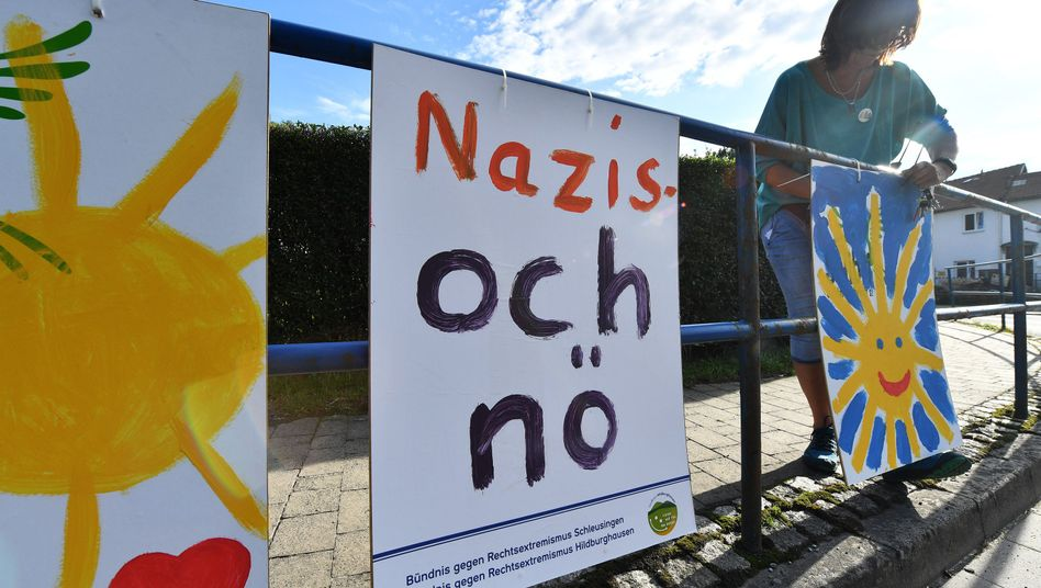 Bürger wollen Zeichen gegen Neonazis in Themar setzen