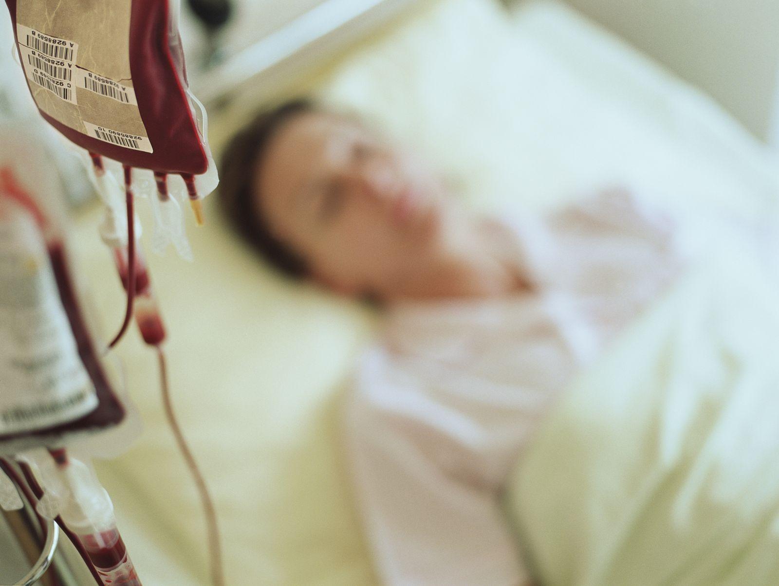 EINMALIGE VERWENDUNG Bluttransfusion