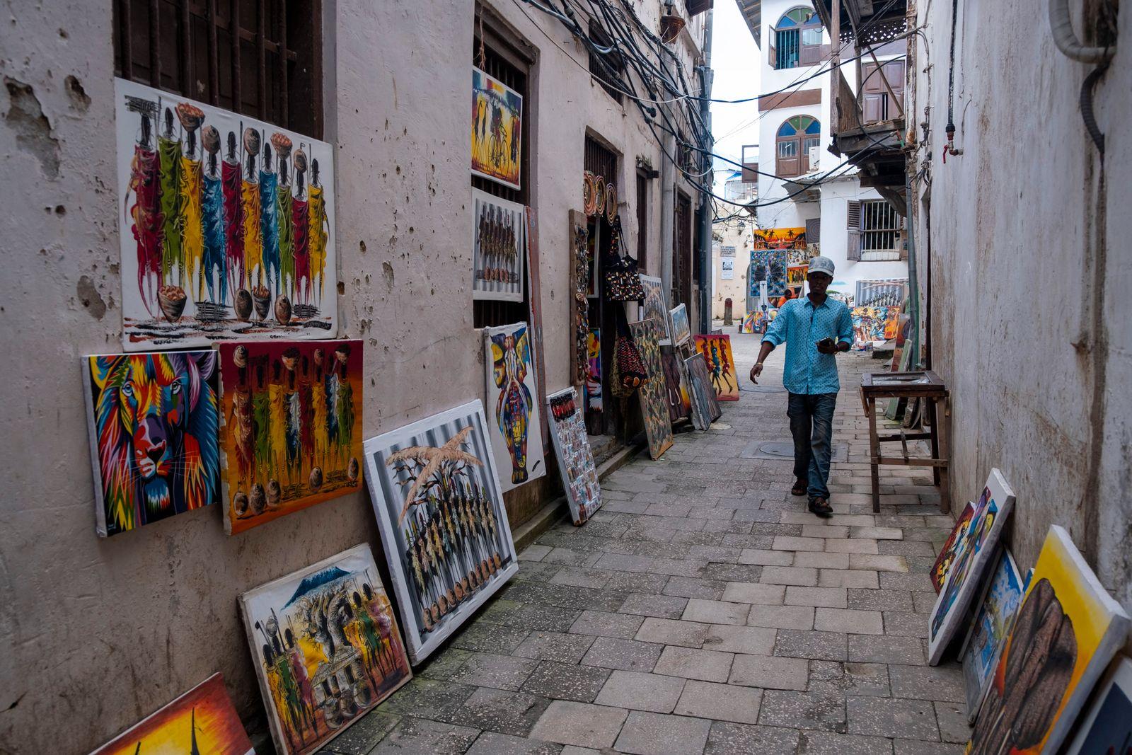 Stone Town Streets Zanzibar