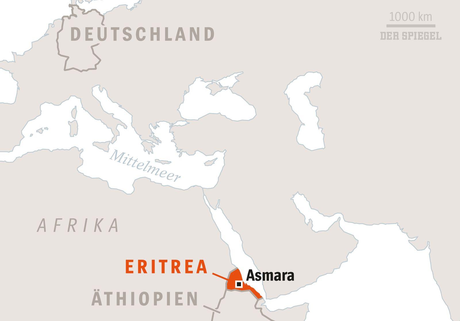 SPIEGEL Plus SP 2017/44 S.88 Lage in Eritrea