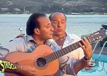 Berlusconi und Showstar Mariano Apicella: Auftrittin einer Sendung des Mediaset-Senders Canale 5