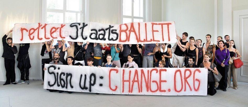 Protestaktion der Tänzer des Berliner Staatsballetts