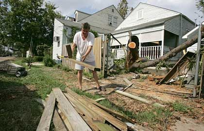 There's loads of work for clean-up crews and home builders among the wreckage.