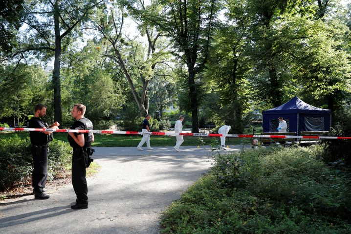 The crime scene in the Moabit district of Berlin