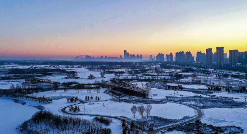 Silhouette der Millionenmetropole Harbin im Nordosten:So machtbewusst wie seit den Tagen der großen Dynastien nicht mehr