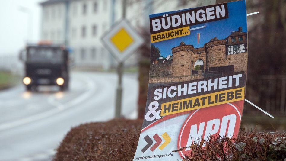 NPD-Plakat in Büdingen