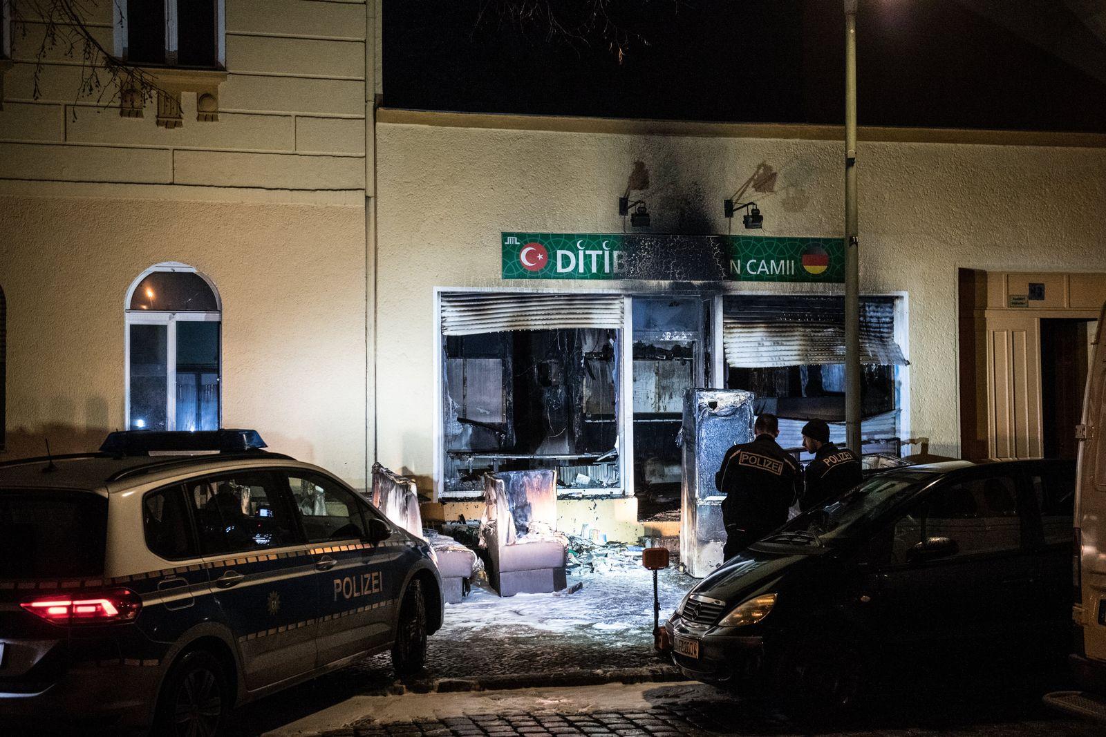 Ditib/ Brand/ Berliner Moschee