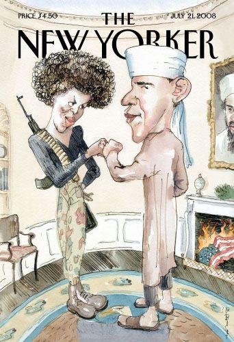 """""""New Yorker""""-Titelbild (mit Obama als Moslem und seiner Frau als Kämpferin): """"Geschmacklos und beleidigend"""""""