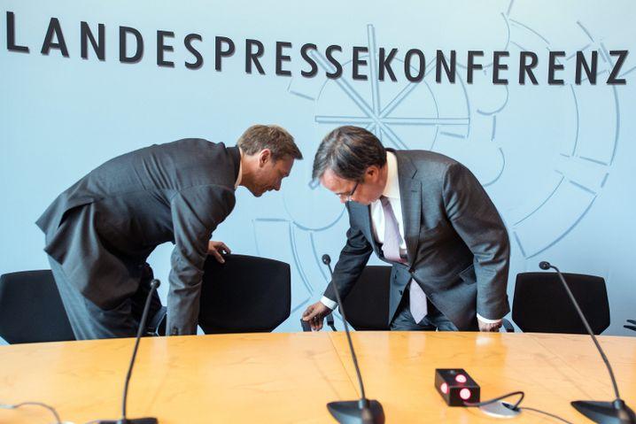FDP-Chef Christian Lindner, CDU-Landesvorsitzender Laschet