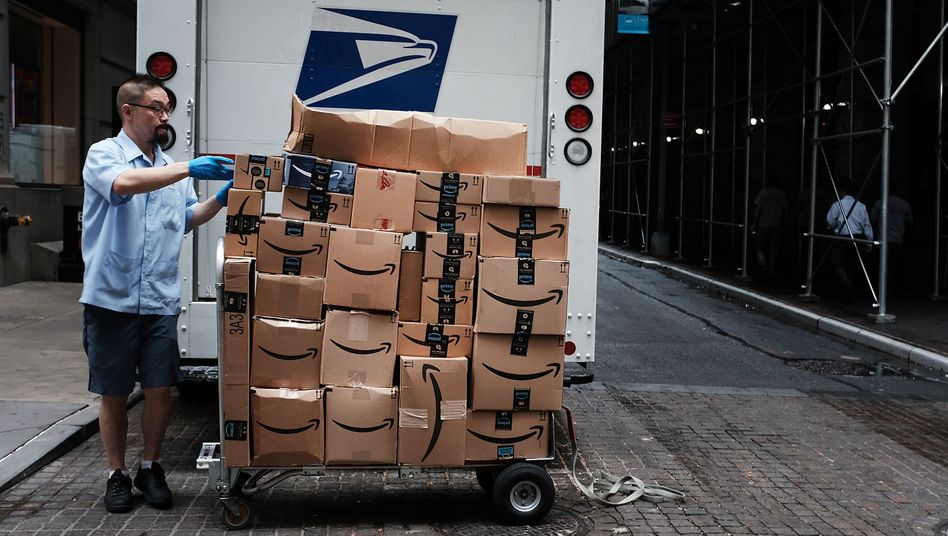 Amazon-Paketbote (in New York)