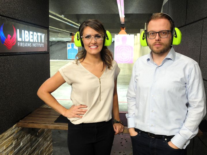 Kimberly Corban traf unser Autor in einer Hightech-Schießanlage in Johnstown, Colorado