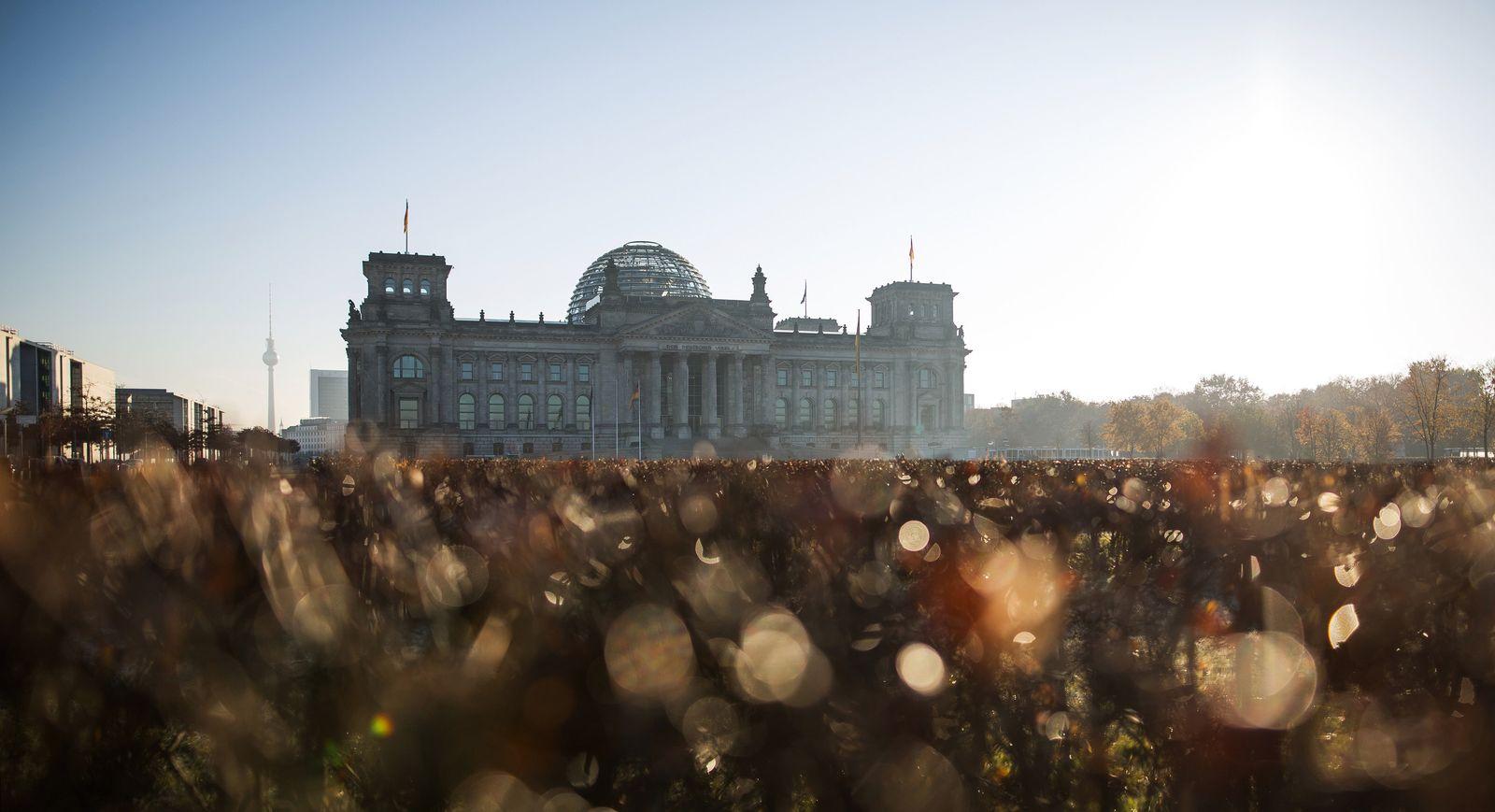Herbstliches Berlin Bundestag