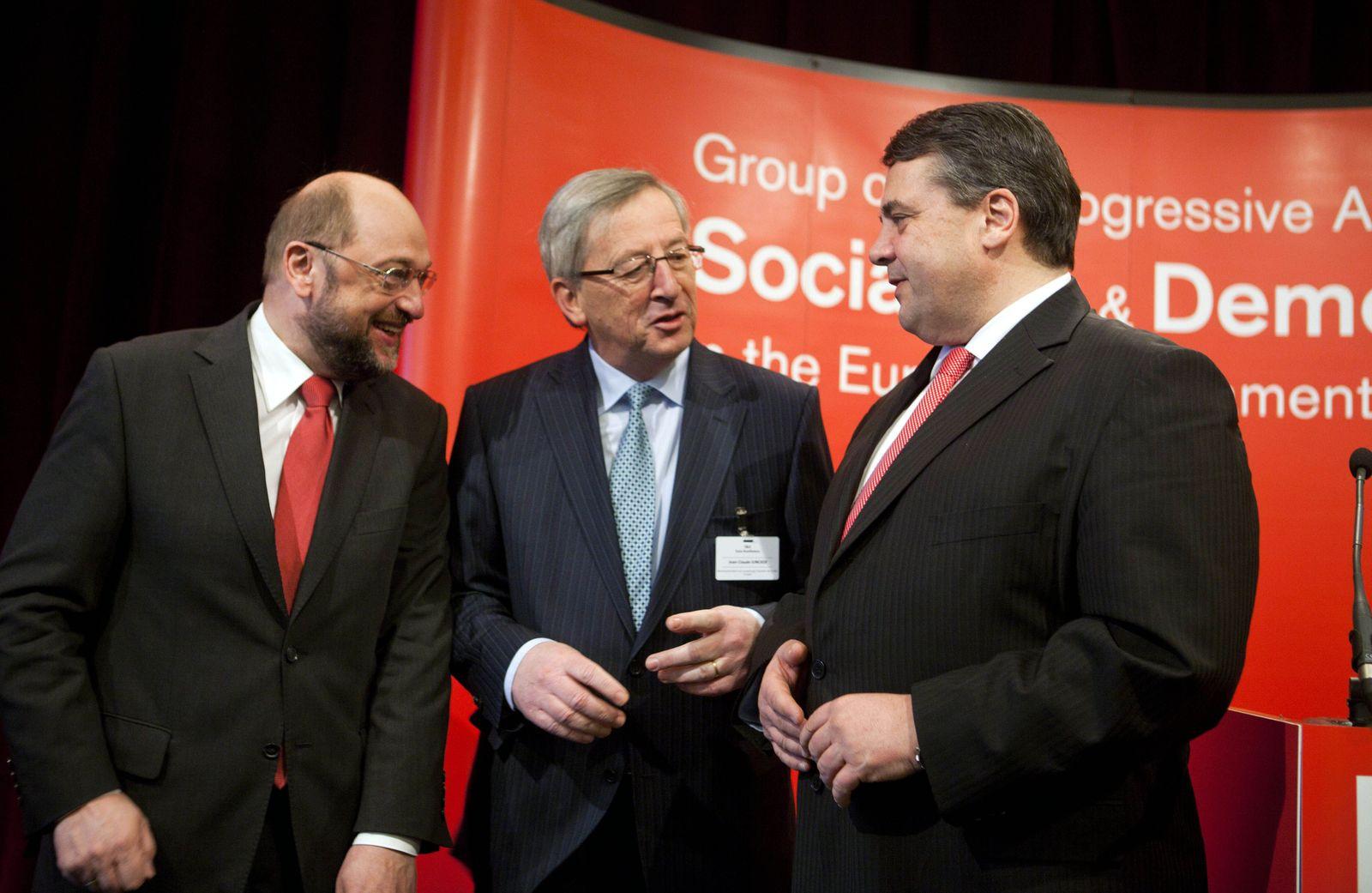 Schulz / Juncker / Gabriel