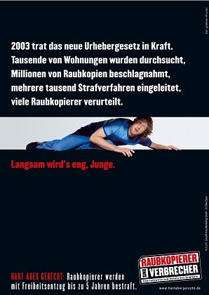 "Das neue Plakat: ""Langsam wird's eng, Junge"""