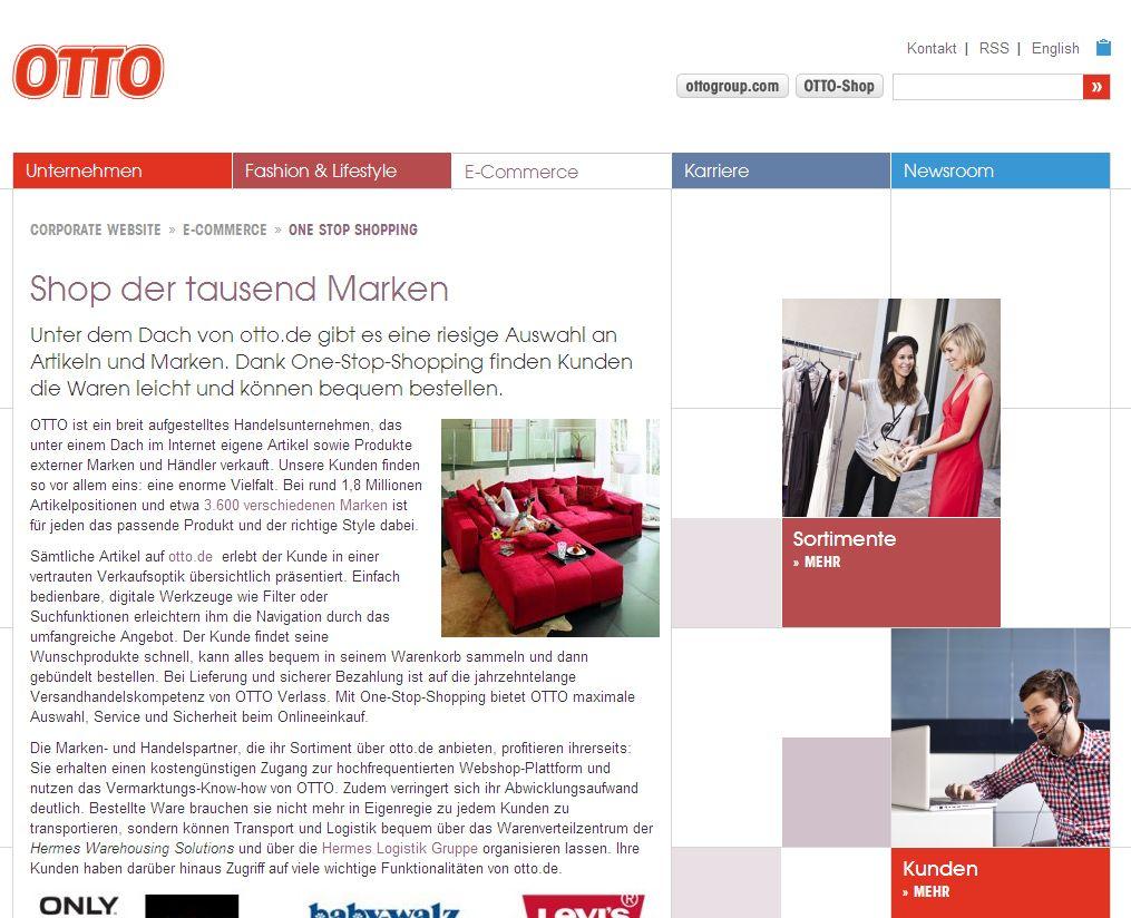 EINMALIGE VERWENDUNG NUR ALS ZITAT Otto / Online-Shop