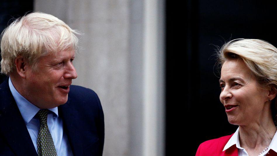 Nicht weit auseinander? Boris Johnson und Ursula von der Leyen im Januar in London