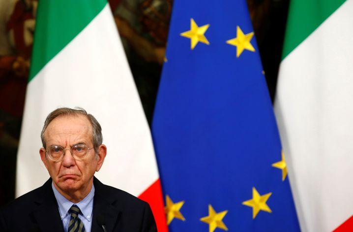Italiens Finanzminister Pier Carlo Padoan (Archiv)