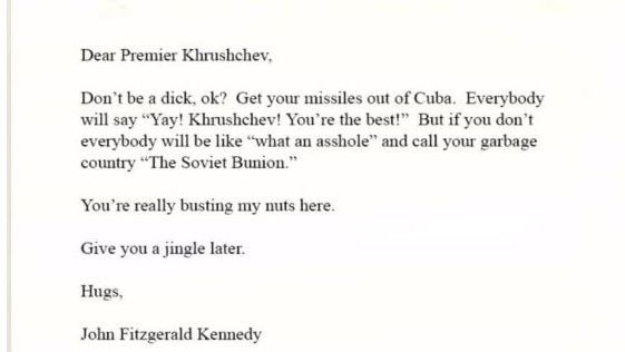 """Satireschreiben: """"Alle werden sagen: 'Yay! Chruschtschow! Sie sind der Beste'"""""""