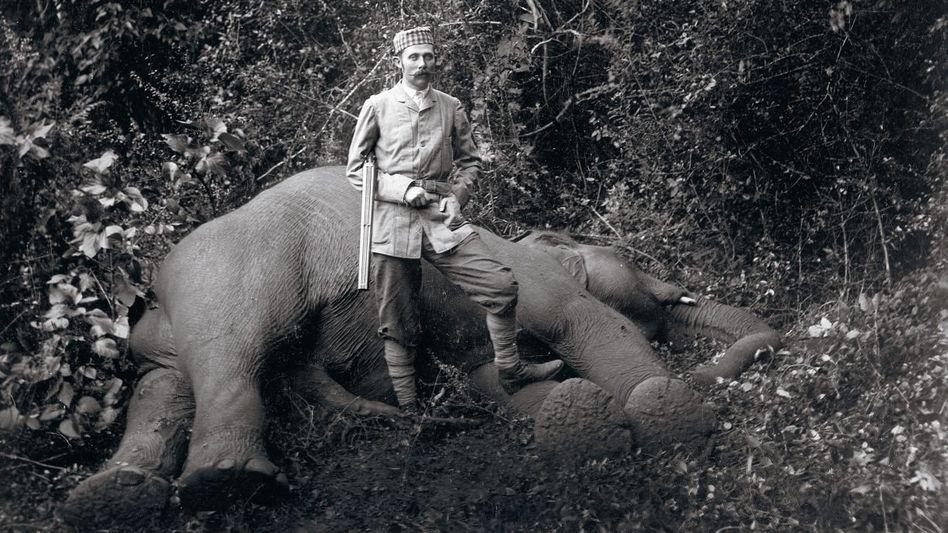 Großwildjäger Franz Ferdinand auf Ceylon 1893 »Feudale Massenschlächterei«