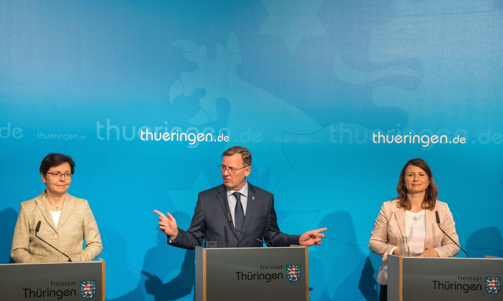 Koalition Thüringen/ RotRotGrün