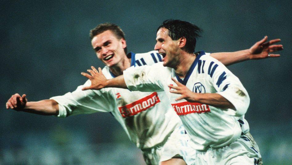 Edgar Schmitt (r): Vier Treffer in einem Spiel