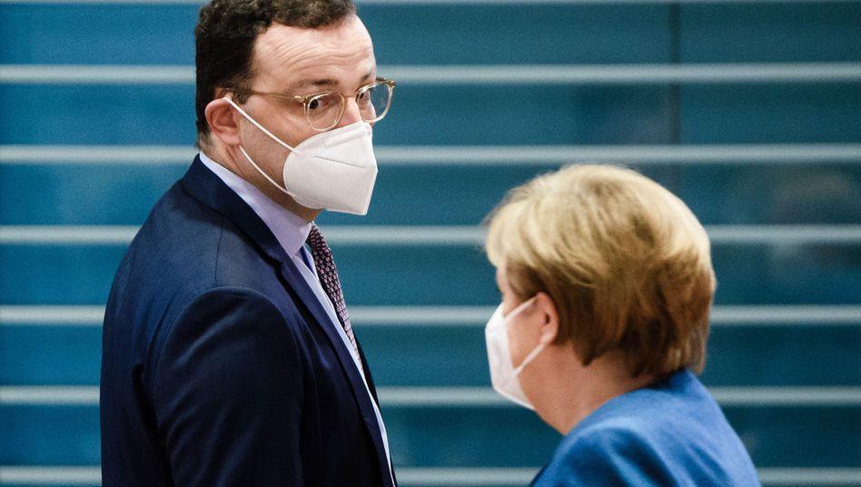 Gesundheitsminister Spahn und die Kanzlerin