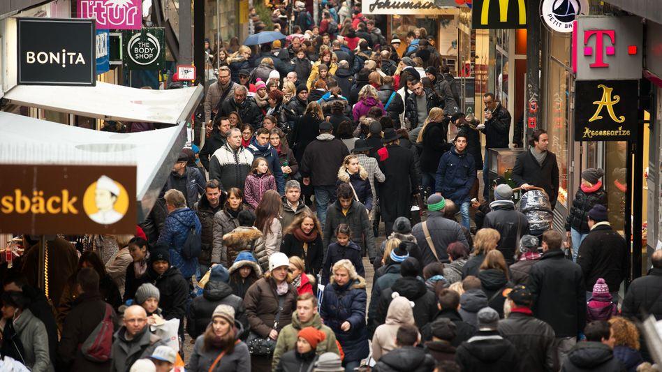 Einkaufsstraße in Stuttgart (Dezember 2014): Minus 0,2 Prozent