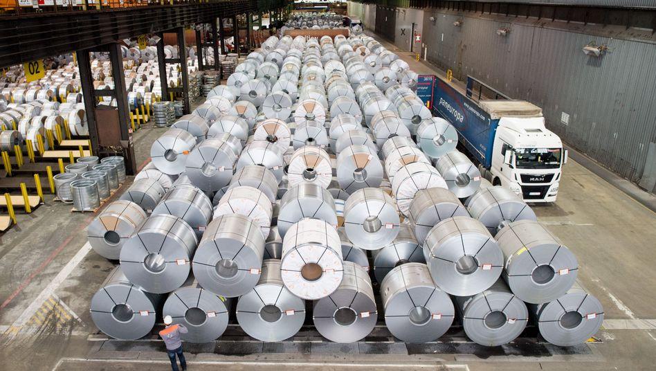 Stahlbleche von Salzgitter: Gedrückte Stimmung in der Wirtschaft