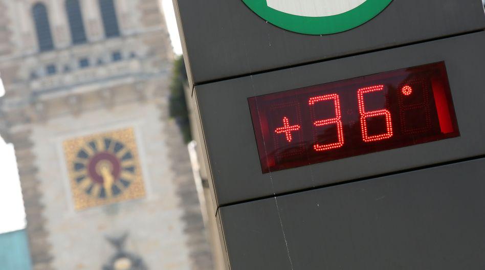 Temperaturanzeige in Hamburg