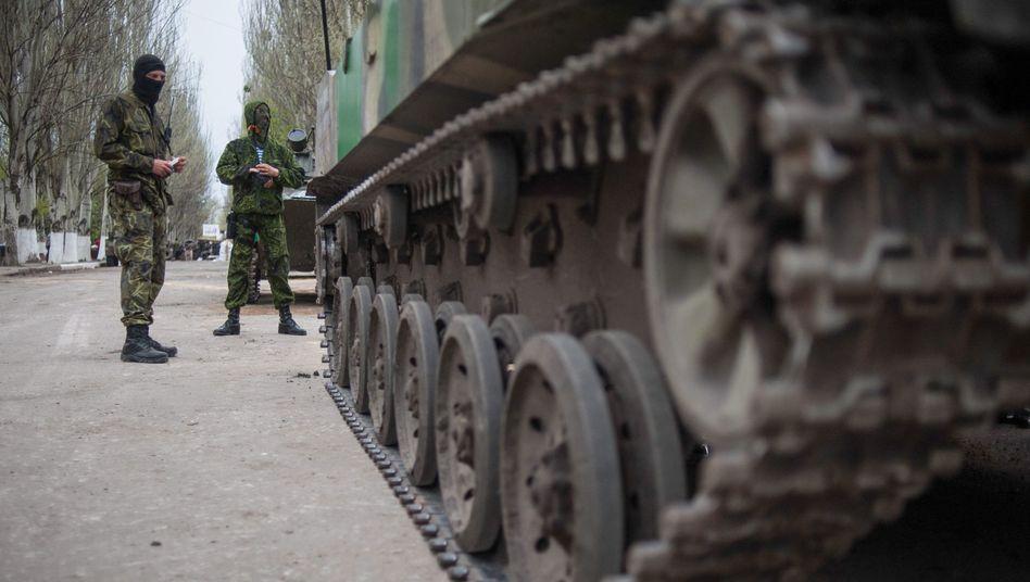 Prorussische Kräfte in Slowjansk: OSZE soll rasch entsendet werden
