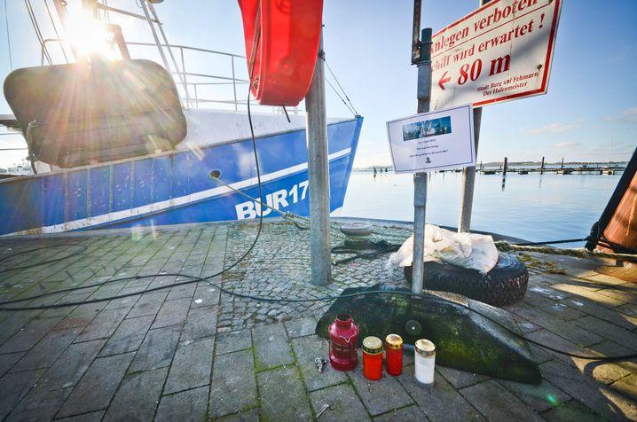 Gedenkort im Hafen Burgstaaken