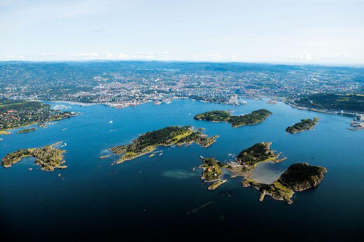 Oslofjord mit seinen Schären, erreichbar mit den Fähren