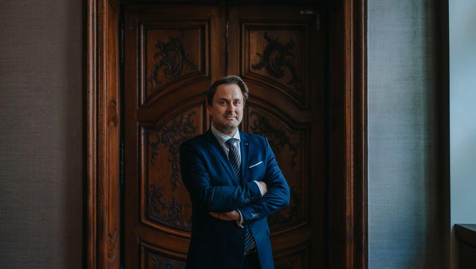 """Luxemburgs Premier Xavier Bettel: """"Der Sozialstaat ist kein Bett, in dem man sich ausruht, sondern eher ein Trampolin, von dem aus man springen kann"""""""