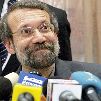 Iran's top nuclear negotiator Ali Larijani has resigned but is still to attend talks with the EU in Rome on Tuesday.