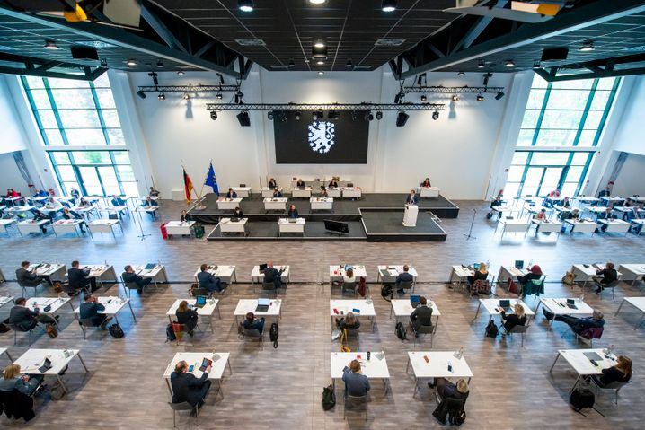 Sitzung des Thüringer Landtags in der Arena Erfurt