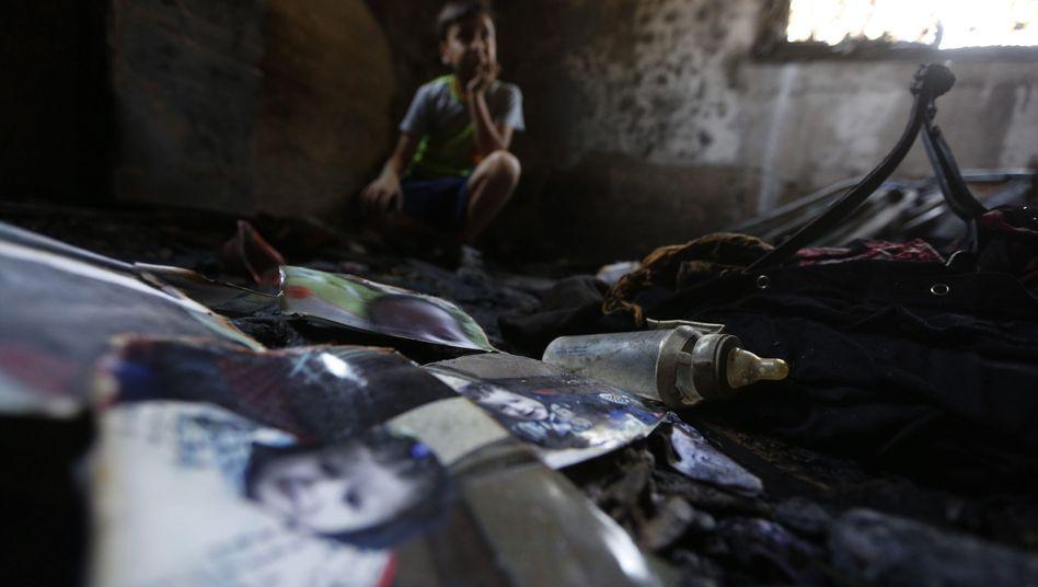 Ausgebranntes Haus der Familie Dawabsheh: Opfer wurden im Schlaf überrascht