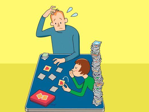Wer? Wie? Wo? Was? Erwachsene sind durch die Memory-Skills ihrer Kinder mitunter ... irritiert.