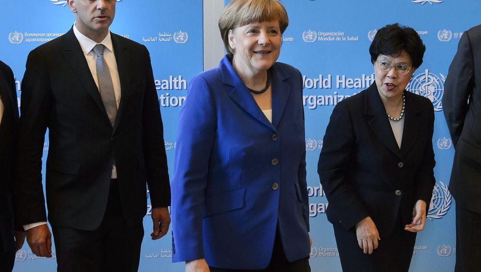 """Angela Merkel in Genf (18. Mai 2015): """"Jedes Land sollte einen Aktionsplan haben"""""""