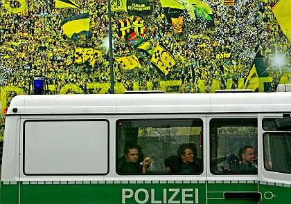 The German police have been keepingclose tabs on fan violence. And so far seem to have it under control.