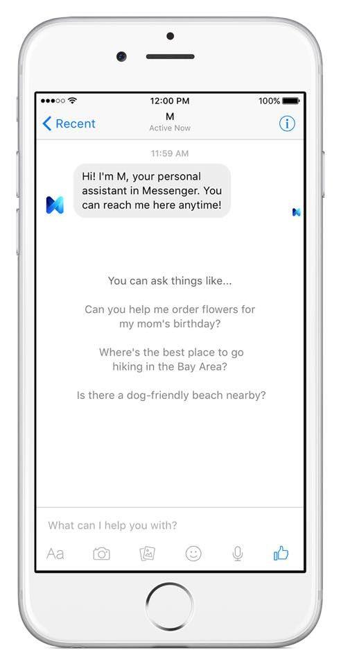 Mit M tritt Facebook in Konkurrenz zu Siri und Cortana