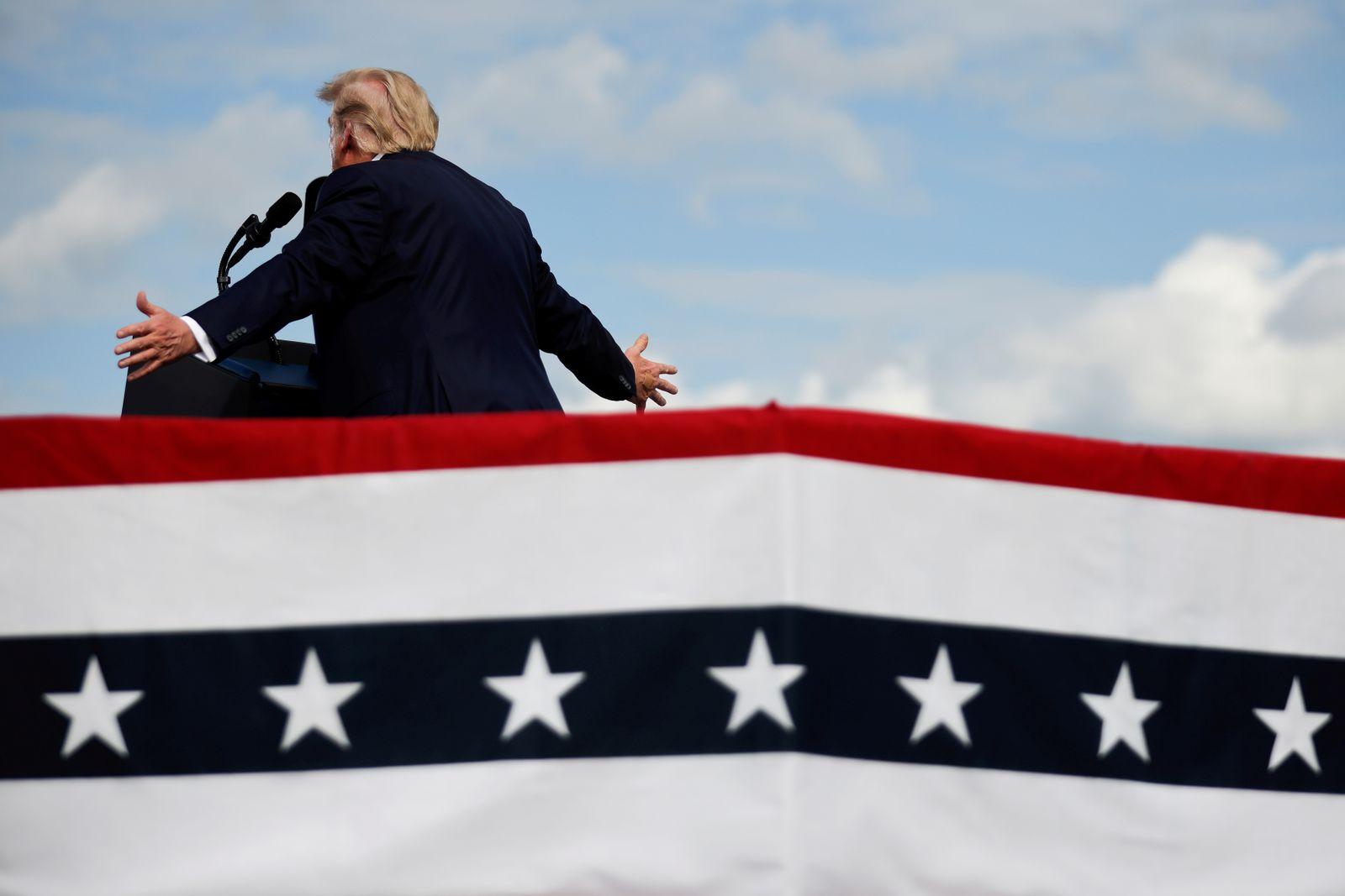 FILE PHOTO: U.S. President Donald Trump's campaign rally in Greenville, North Carolina