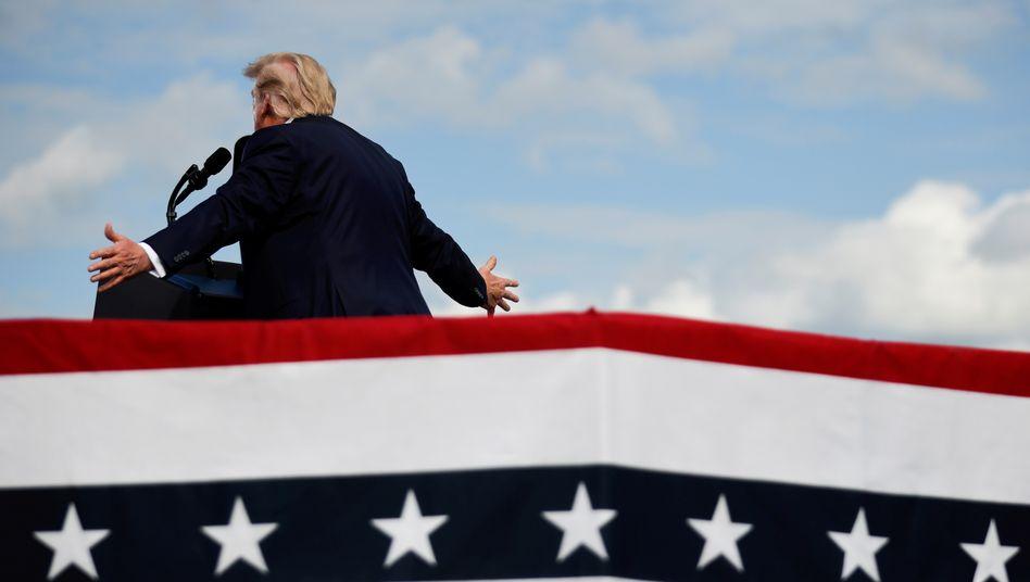 Donald Trump (am Donnerstag in Greenville, North Carolina)