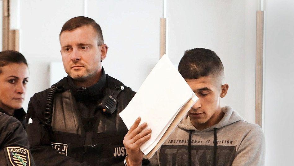 Verdächtiger Al H. H. 2018 vor Gericht in Dresden